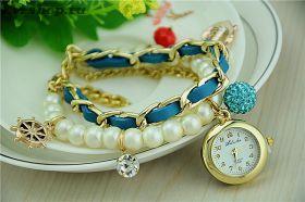 Женский браслет с кварцевыми часами №5