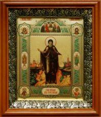 Давид Серпуховской (19х22), светлый киот