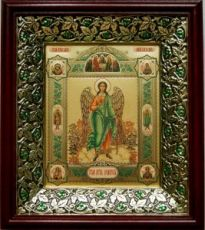 Ангел Хранитель (21х24), киот со стразами