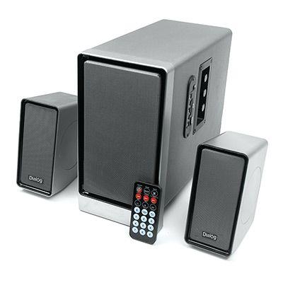 Мультимедийные колонки 2.1 Dialog Progressive AP-207 BLACK - акустические колонки 2.1, 18W+2*10W RMS, USB+SD reader