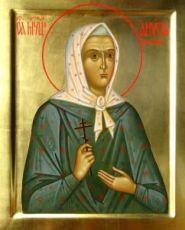 Икона Анисия Масланова (рукописная)