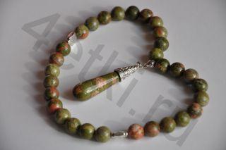 Четки из натурального камня - Яшма (Унакит)