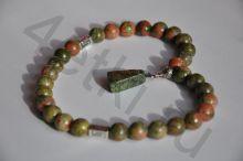 Четки из натурального камня- Яшма (Унакит)