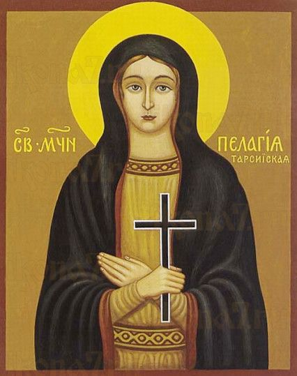 Пелагея Тарсийская (рукописная икона)