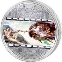 20 долларов 2008 года, Острова Кука. Микеланджело. Сотворение Адама