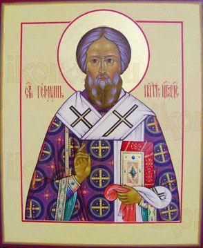 Герман Константинопольский (рукописная икона)