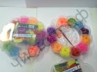 Набор для плетения Rainbow Loom Bands Цветок 1000шт резинок , крючок, клипсы ,станочек для плетения  {2/16}