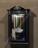 """Зеркальный шкаф для ванной """"Руссильон PROVENCE-60 черное дерево"""" (правое открывание)"""