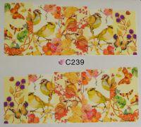 Водная наклейка для дизайна ногтей С 239
