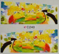 Водная наклейка для дизайна ногтей С 240