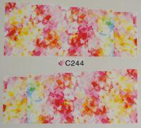 Водная наклейка для дизайна ногтей С 244