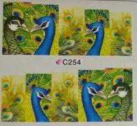 Водная наклейка для дизайна ногтей С 254