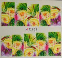 Водная наклейка для дизайна ногтей С 259