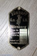 Табличка Zundapp латунная