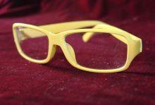 Очки без диоптрий молодежные желтые