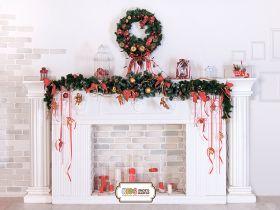 """Фон стена """"Fireplace white"""""""