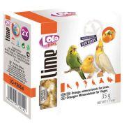 Lolo Pets Минеральный камень для птиц с апельсином (35 г)