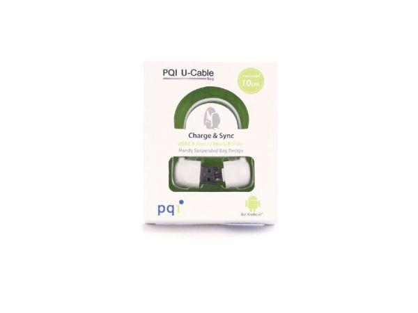 Переходник с USB на mUSB 10см PQI BAG в форме сумочки (OTG) белый