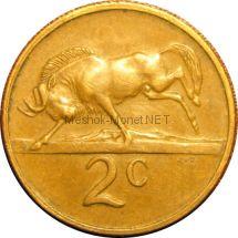 ЮАР 2 цента 1976 г.