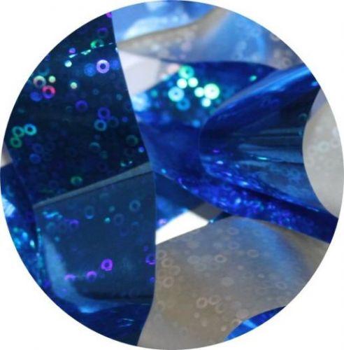 Фольга для литья и кракелюра Royal (06) синий голографический круг