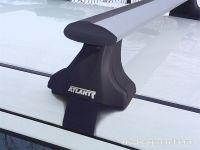 Багажник на крышу Nissan Juke, Атлант, крыловидные аэродуги, опора Е