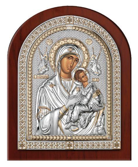 Серебряная икона Дева Мария Амолинта (Благая) Италия, эксклюзивная рамка