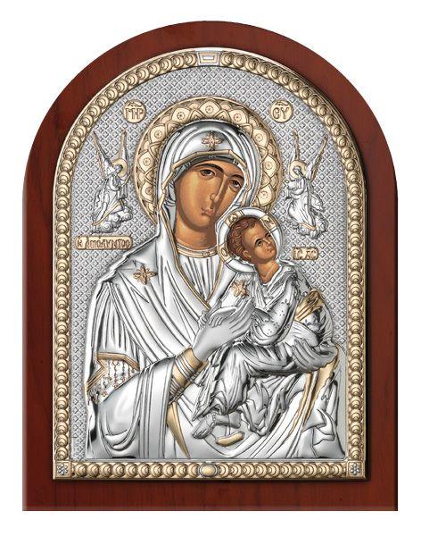 Серебряная икона Дева Мария Амолинта (Благая)  (Италия)
