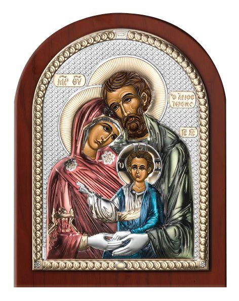 Серебряная икона Святое Семейство (Италия)