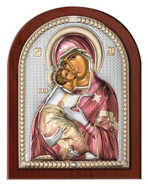 Серебряная икона Божья Матерь Владимирская (Италия)