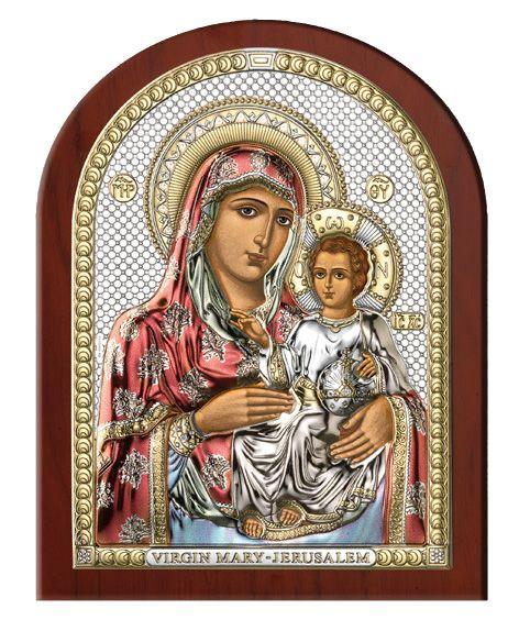 Серебряная икона Божья Матерь Иерусалимская (Италия)