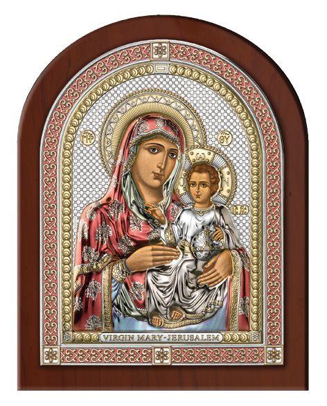 Серебряная икона Божья Матерь Иерусалимская (Италия, эксклюзивная рамка)