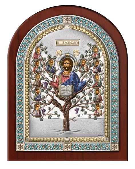 Серебряная икона Древо Жизни в рамке (Италия)