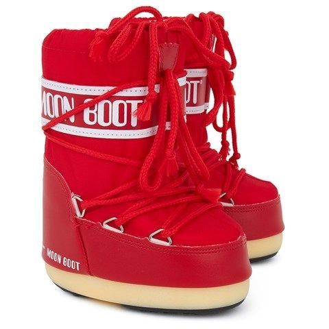 Moon Boot Nylon Red / 23-26, 27-30, 31-34.