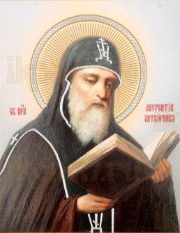 Лаврентий Печерский (рукописная икона)