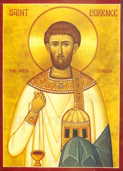 Икона Лаврентий, архидиакон (рукописная)