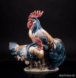 Петух и курица, Capodimonte, Италия, сер 20 в