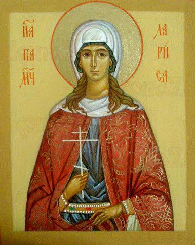 Лариса Готфская (рукописная икона)