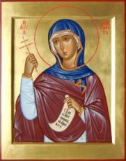 Икона Маргарита Антиохийская (рукописная)