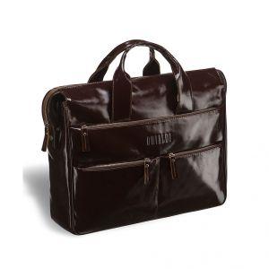 Вместительная деловая сумка BRIALDI Manchester (Манчестер) shiny brown