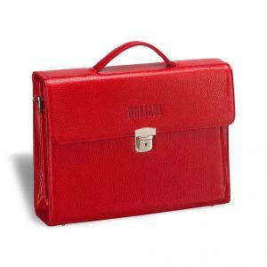 Женский деловой портфель BRIALDI Blanes (Бланес) relief red