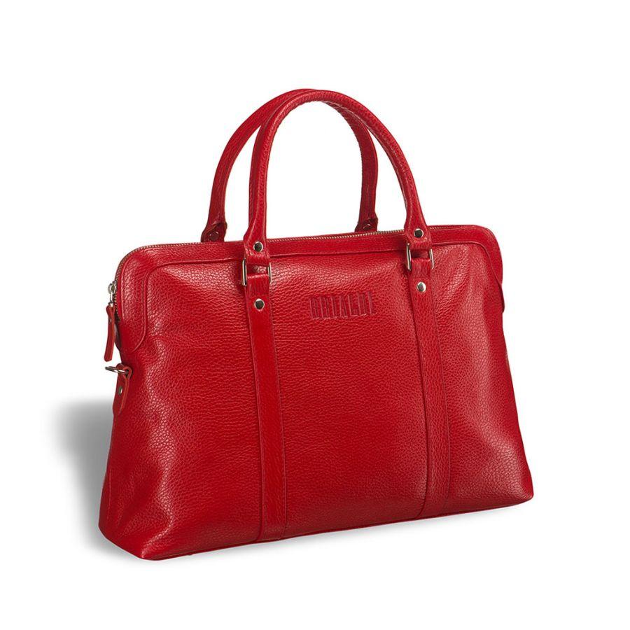Удобная женская сумка BRIALDI Valencia (Валенсия) relief red