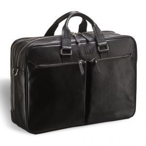 Вместительная деловая сумка BRIALDI Benton (Бентон) black