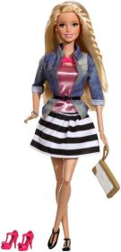 Кукла Барби Jean Jacket and Black/White Skirt, серия Уличный стиль, BARBIE