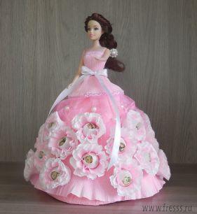 """Подарочная кукла с конфетами """"Розовая фея"""""""