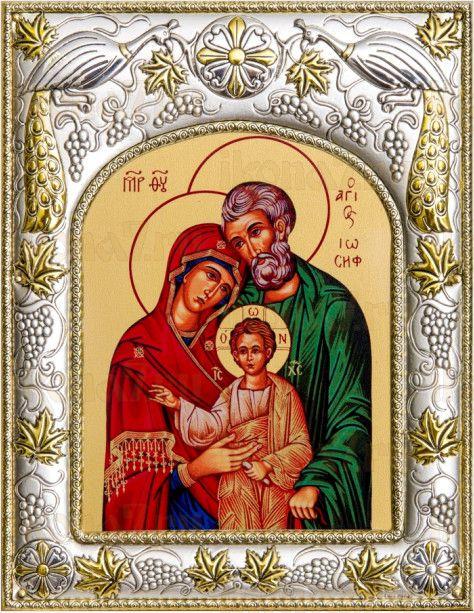 Святое семейство (14х18), серебро