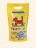 """Pretty Cat """"Cупер белый"""" Комкующийся наполнитель (2 кг)"""