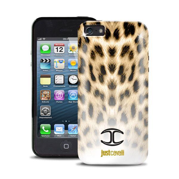 Just cavalli чехол для iphone 5/5s (леопард)