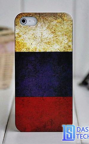 Чехол флаг России для iPhone 5/5s