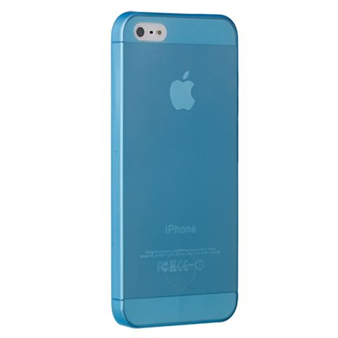 Ультра тонкий чехол 0.3мм для iphone 5/5s синий