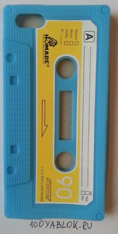 Чехол кассета на iphone 5/5s Синий